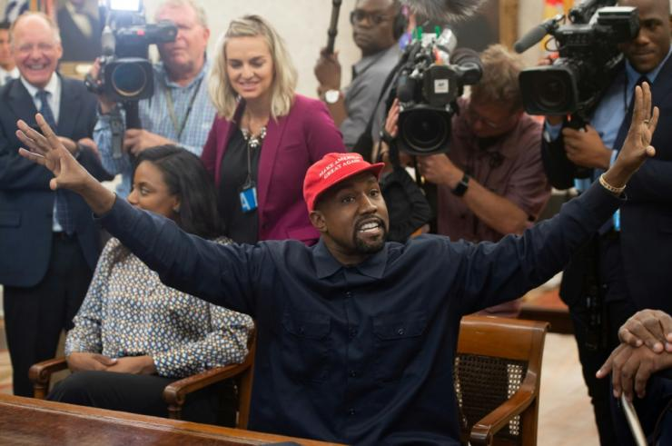 Rap superstar Kanye West, shown here in a White House meeting with US President Donald Trump in 2018, says he no longer supports Trump and that his own 2020 presidential run is for real