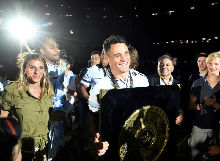 Two-time World Cup winner Dan Carter lifted the Top 14 title with Racing 92 in 2016