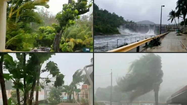 Hurricane Isaias unleashes flooding, topples trees and knocks out power for thousands of people in Puerto Rico.