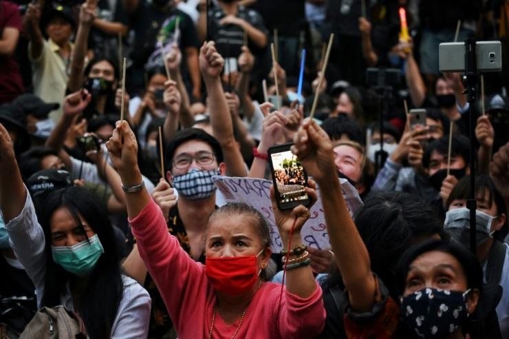 Young Thais across the country have held near daily protests at universities and town halls to denounce the military-aligned government of Prime Minister Prayut Chan-O-Cha