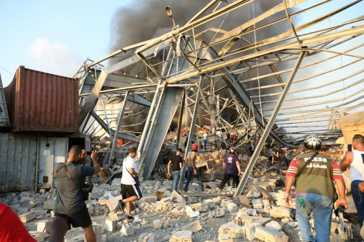 The blast which rattled entire buildings was felt across the city and far beyond