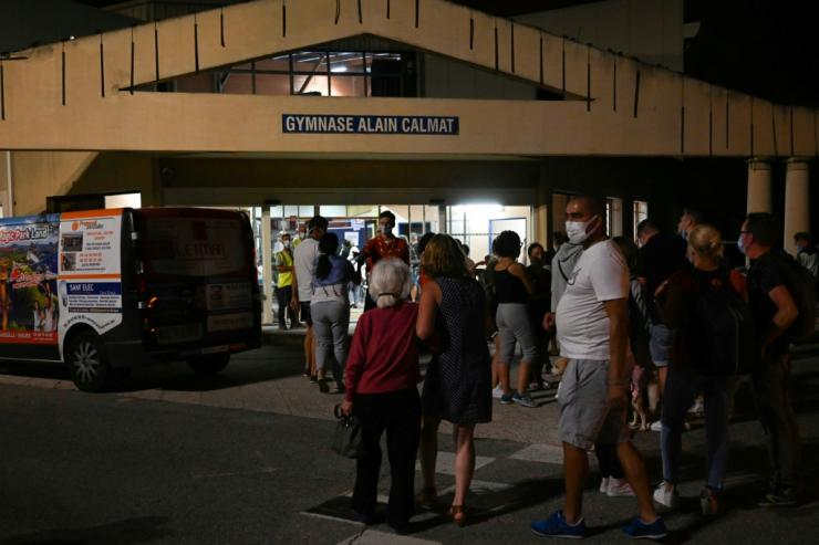 Many of those evacuated spent the night in a gymnasium, while others were taken in by locals
