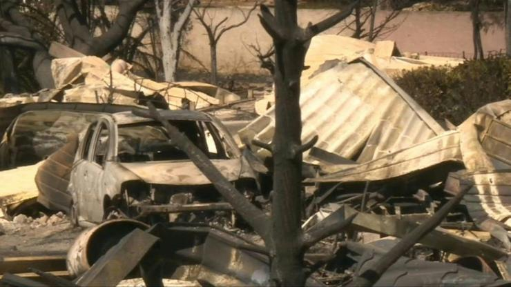 The Lou Cigalon campsite in Martigues, near Marseille, is completely devastated by the fire that hit the region and led to the evacuation of more than 2,700 people