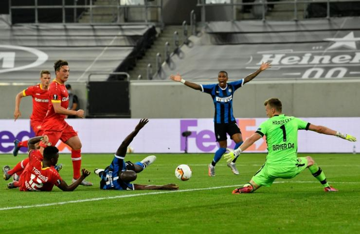 Romelu Lukaku scored as Inter saw off Leverkusen in Monday's quarter-finals