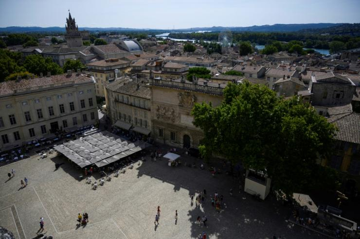 Tourists numbers are down dramatically at the Pope's Palace in Avignon
