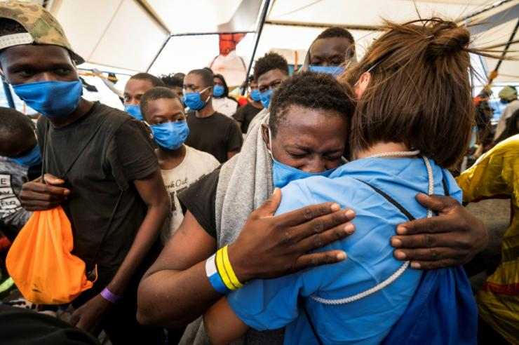 Many of the 353 migrants on board Sea Watch 4 have faced severely cramped conditions for the past 12 days