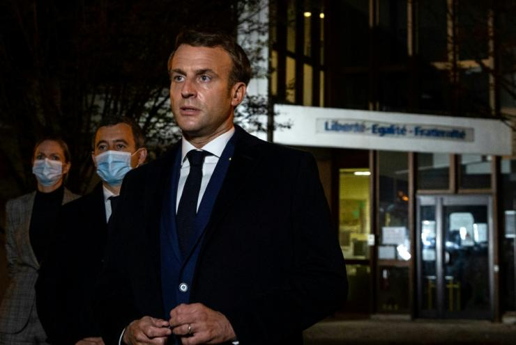 "The killing bore the hallmarks of ""an Islamist terrorist attack"", President Emmanuel Macron said as he visited the scene"