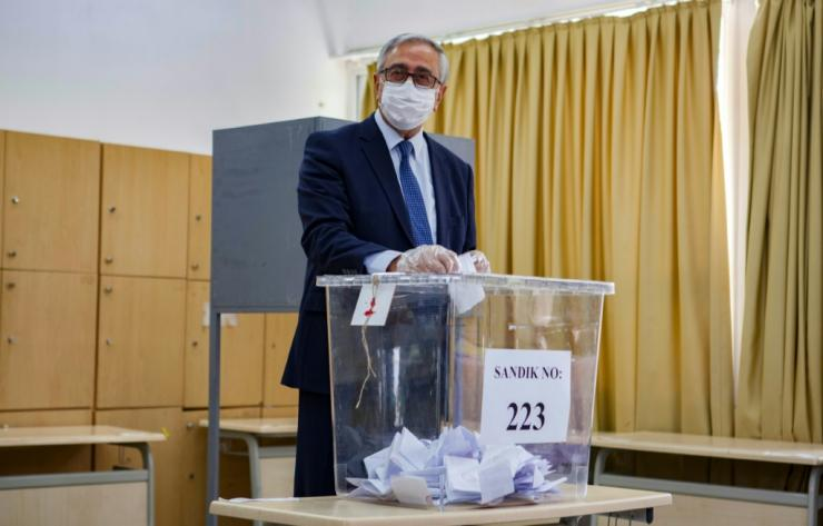 Turkish-Cypriot leader Mustafa Akinci, a pro-reunification moderate, faces a challenge from Ankara-backed Ersin Tatar in the vote in breakaway northern Cyprus