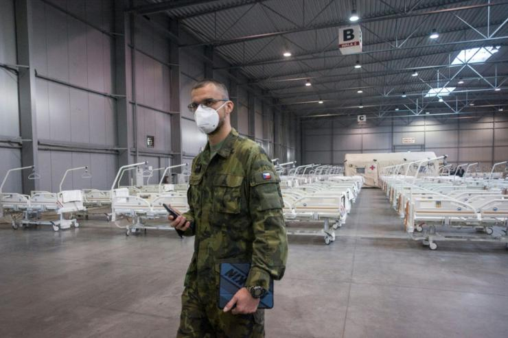 The Czech army has set up a field hospital in Prague
