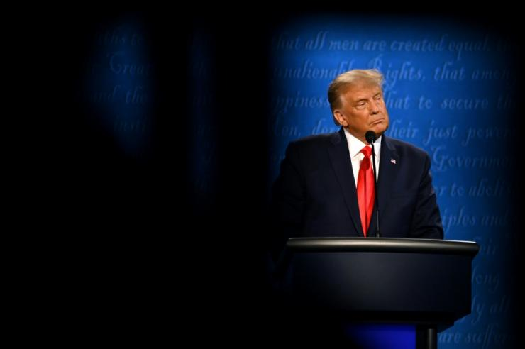 US President Donald Trump was more even-keeled during his debate but he's back on the campaign trail with time running out to catch Democrat Joe Biden