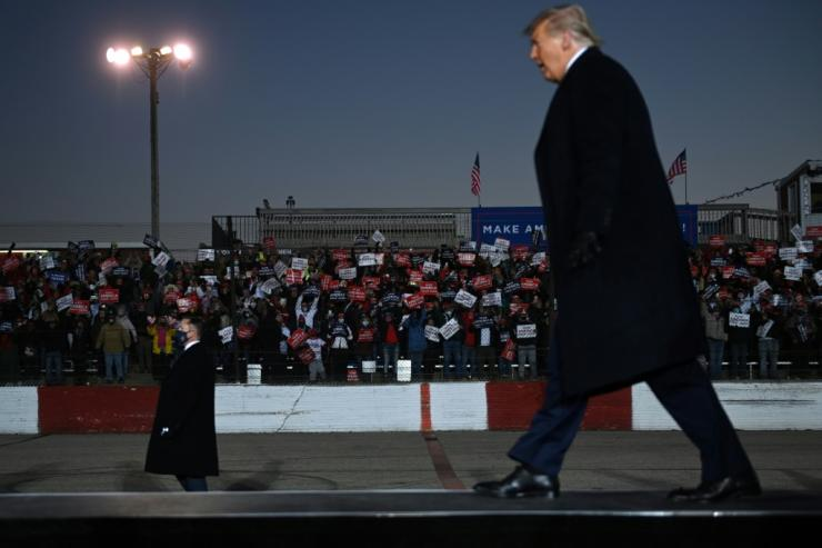 US President Donald Trump is on a dramatically different campaign trail than his rival Joe Biden, one featuring massive rallies, scattered mask wearing and almost no social distancing