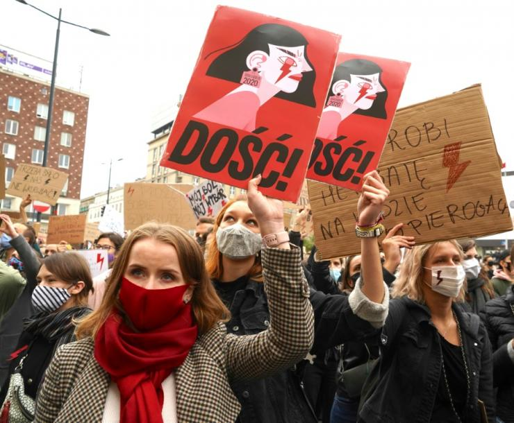 'Enough!' Women in Poland have been walking off the job and hitting the streets nationwide since a court ruling to impose a near-total abortion ban