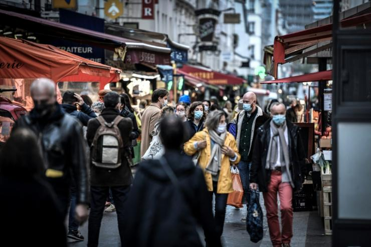 """In France, Prime Minister Jean Castex said supermarkets would be barred from selling """"non-essential"""" items from Tuesday to protect small shopkeepers who have been forced to close"""