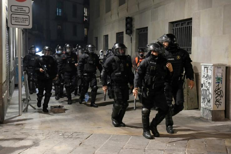 Protesters in several Spanish cities clashed with security forces, with vandalism and looting breaking out in some parts