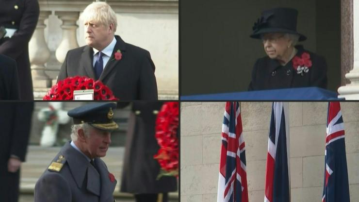 British politicians and the Royal family pay tribute to the war dead in a socially-distanced ceremony due to the coronavirus pandemic. Meanwhile, members of the public are finding creative ways to honour the dead without breaking social distancing rules.