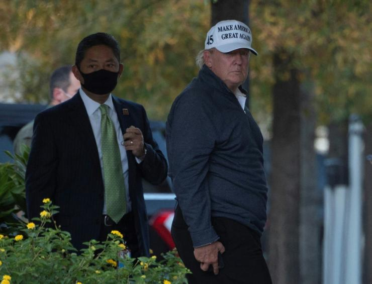 President Donald Trump spent the weekend playing golf