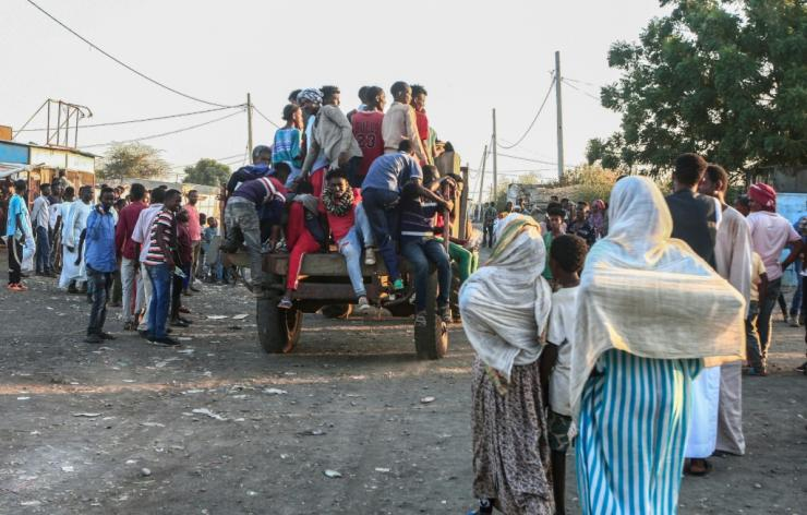 Sudan says it is doing what it can to support the influx of refugee with hundreds moved to a camp
