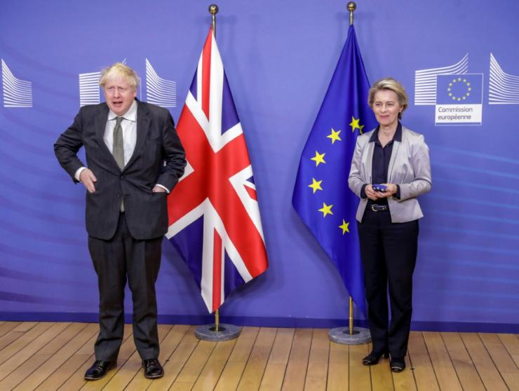 Boris Johnson and Ursula von der Leyen were unable to break the deadlock after hours of talks and agreed to extend negotiations until Sunday