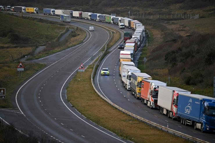 With several countries including France closing their borders with Britain owing to the new strain of virus, huge queues of lorries are building outside the country's ports