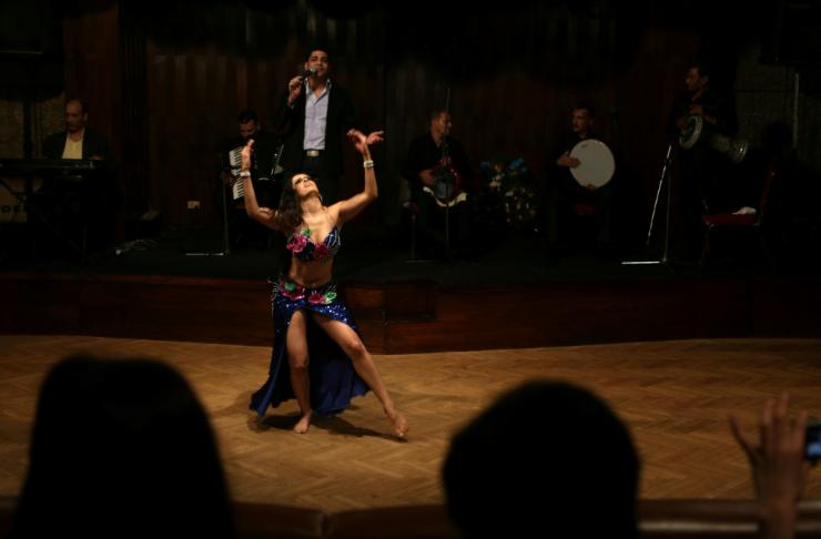 A Mexican dancer performs during a Cairo festival -- foreign belly dancers have dominated the Egyptian scene in recent years