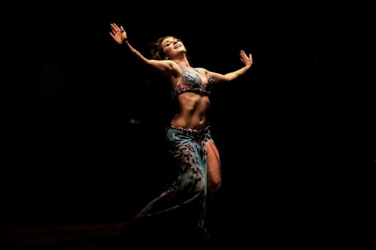 A Russian dancer performs during a belly dancing festival in the Egyptian capital Cairo on December 12, 2012. Egypt's belly dancing scene thrived last century