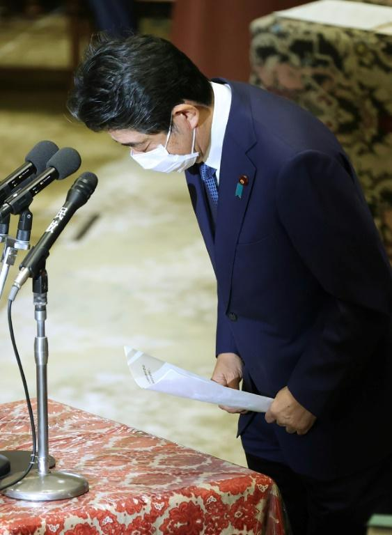 Abe stepped down earlier this year over health problems