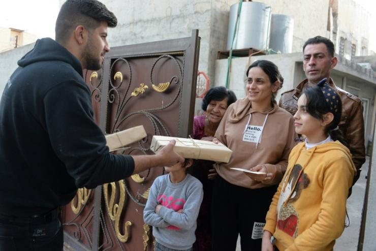 Christmas cards with hand-written greetings from across mainly Muslim Iraq bring joy to Christians in the northern town of Qaraqosh, where the minority community is still rebuilding after the ravages of jihadist rule