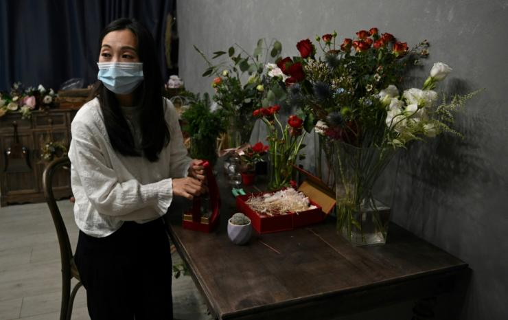 Florist Elise Ip said she hopes the gifts make prisoners and their relatives and friends feel closer to each other