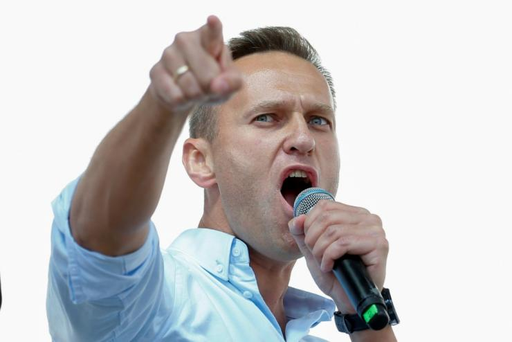 Navalny said the authorities 'hysterical reaction'