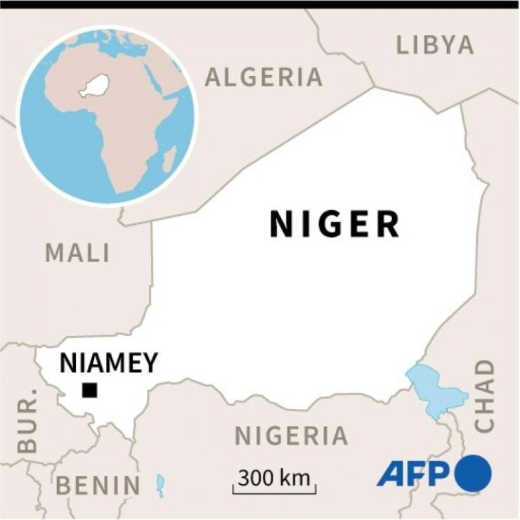 Map of Niger locating capital Niamey