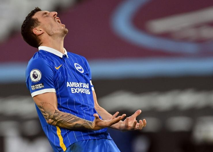 Brighton captain Lewis Dunk scored in his side's 2-2 draw against West Ham