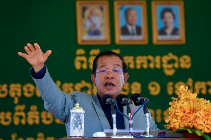 Hun Sen said the extraction was a 'huge gift' for Cambodia