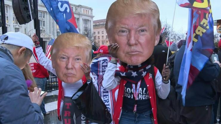 IMAGES AND SOUNDBITES Hundreds of supporters of US President Donald Trump gather in Washington, DC, a day before a protest called by the outgoing US president who refuses to concede defeat in November 2020's election. The US Congress will meet Wednesday t