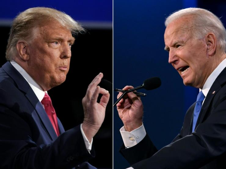 Outgoing president Donald Trump was due to address his supporters in Washington as Joe Biden's victory is certified