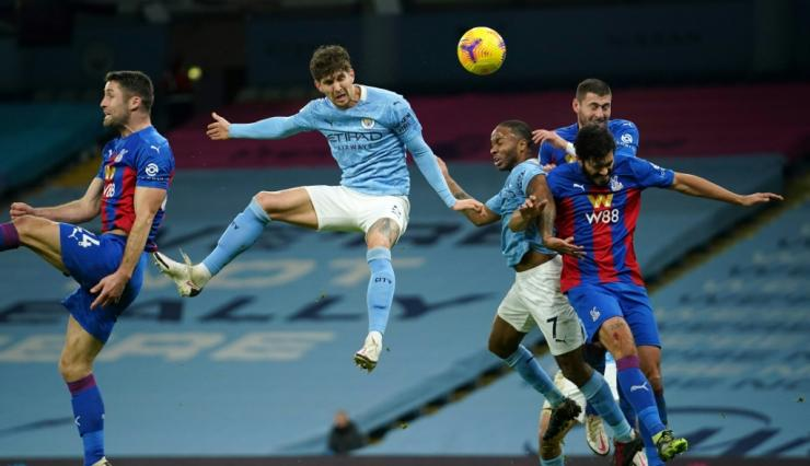 Manchester City defender John Stones scored against Crystal Palace