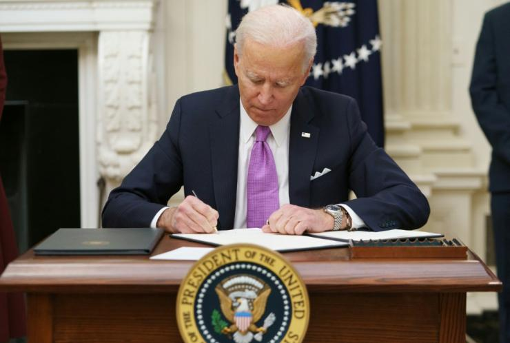 US President Joe Biden is signing a flurry of executive orders to tackle the coronavirus crisis