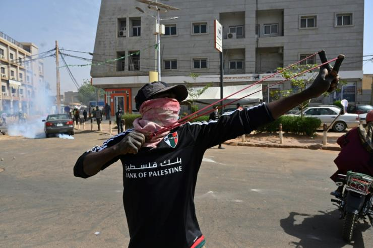 Violence broke out in Niamey after election results were announced on Tuesday
