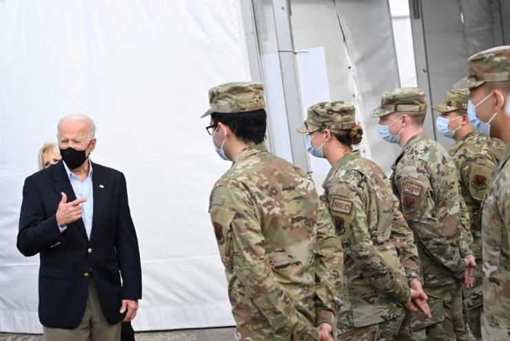 US President Joe Biden said a US air strike against an Iranian-backed militia in Syria should be seen by Iran as a warning