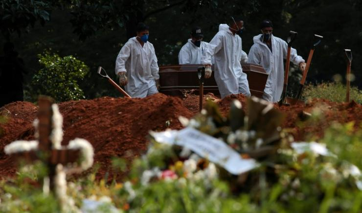 Brazil's Covid-19 death toll passed 300,000 on Wednesday, the second-highest number of fatalities in the world