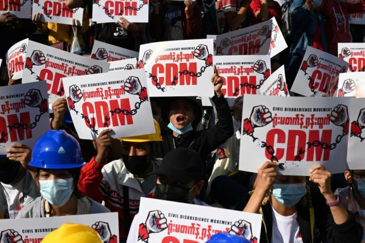 The protest movement, coming on top of a Covid pandemic that hit Myanmar hard, has also struck the country's economy