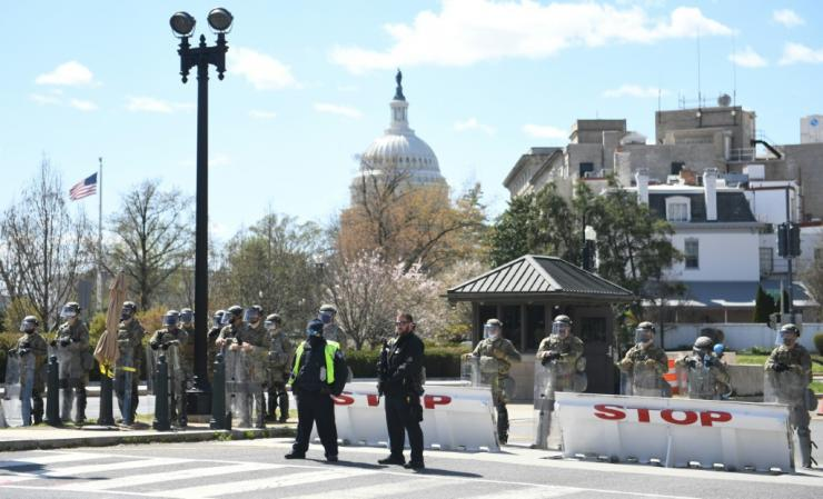 Two police officers were injured near the US Capitol after being rammed by the vehicle, whose driver was subsequently arrested