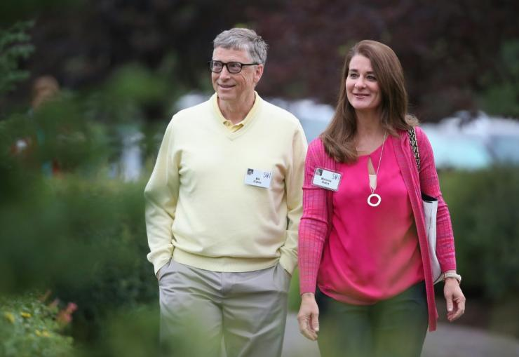 Bill and Melinda Gates (pictured July 2015) launched their eponymous foundation, one of the world's richest, in 2000