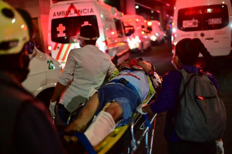 Dozens of people injured in the accident flooded hospitals around Mexico City
