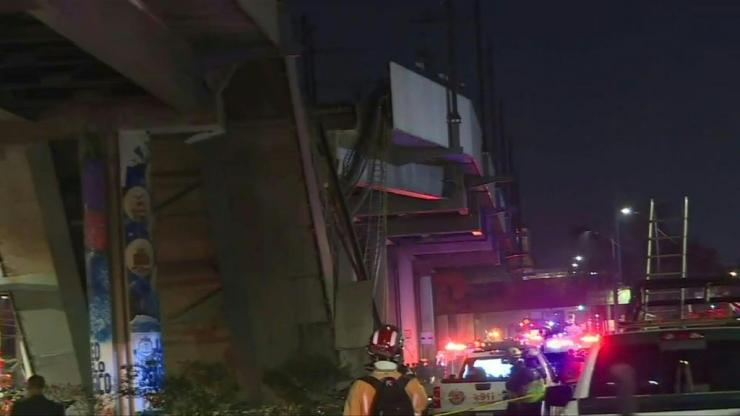 Image: At least 15 people were killed and dozens injured when the elevated subway collapsed in the Mexican capital on Monday while trains were passing.