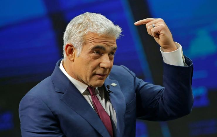 Chairman of Israel's Yesh Atid party Yair Lapid
