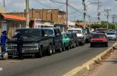 Drivers queue at a gas station in Maracaibo, Venezuela, amid the coronavirus epidemic in July 2020