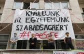 Hungary Students Dig In At Blockade For Academic Freedom
