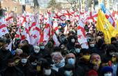 Thousands Rally In Georgia After Opposition Chief's Arrest